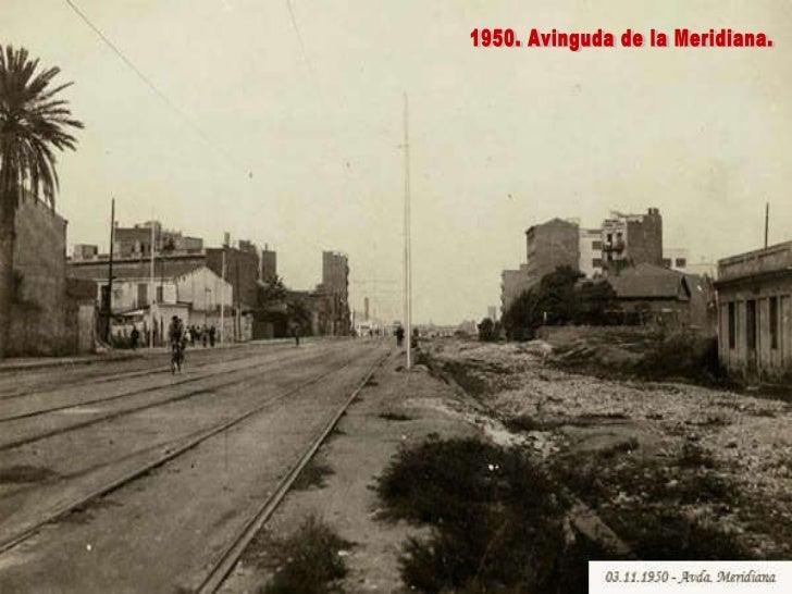 1950. Avinguda de la Meridiana.
