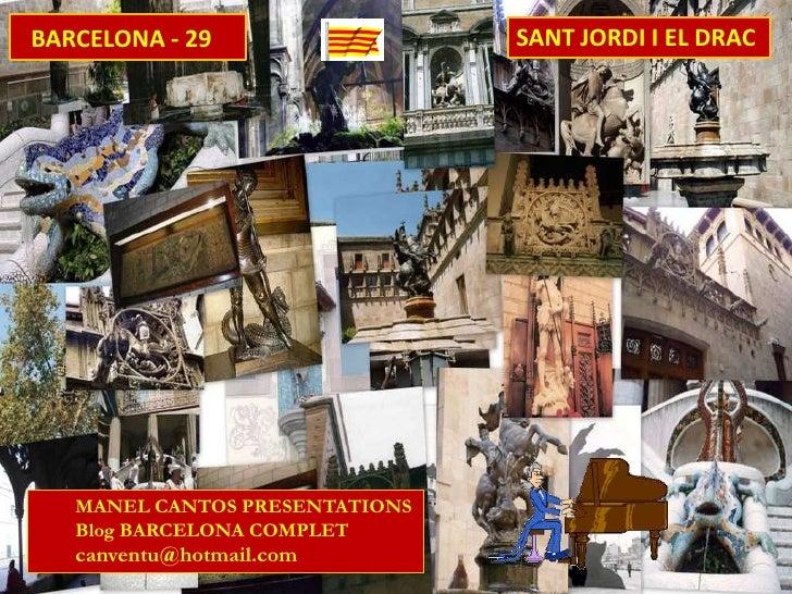 BARCELONA 29 SANT JORDI I EL DRAC