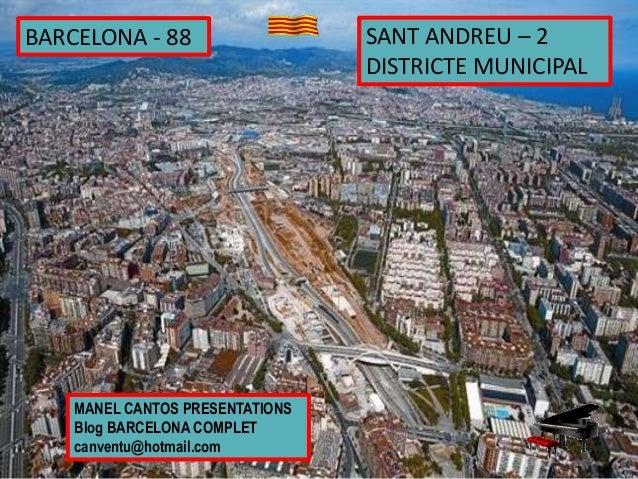 Barcelona 88 sant andreu 2 districte municipal - Barrio de sant andreu ...