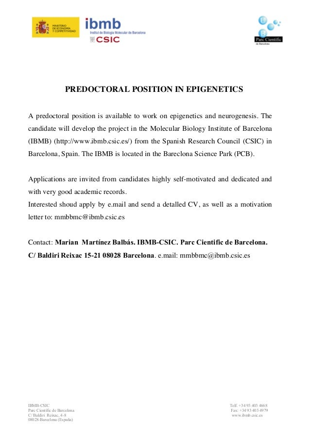 Cover letter for phd application biology