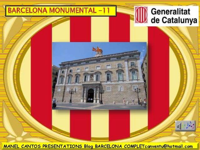 BARCELONA MONUMENTAL 11 - PALAU DE LA GENERALITAT
