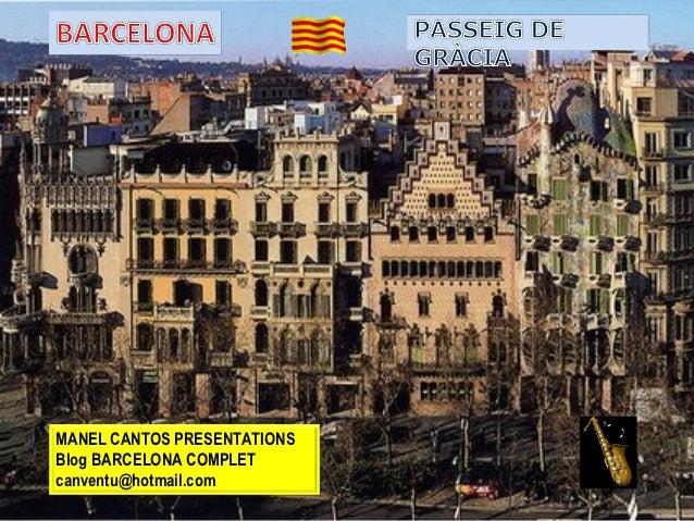 Barcelona, Passeig de Gràcia