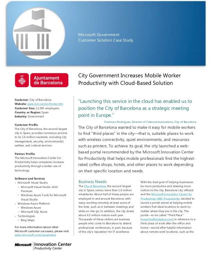 Microsoft Government                                               Customer Solution Case Study                           ...