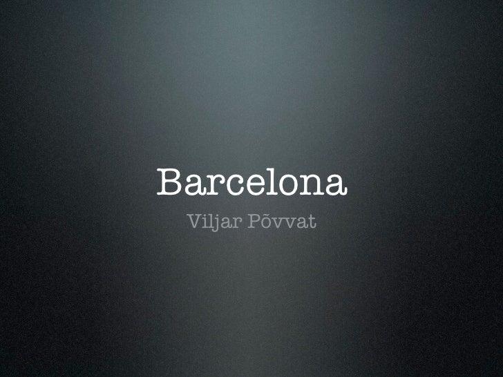 Barcelona slaidid