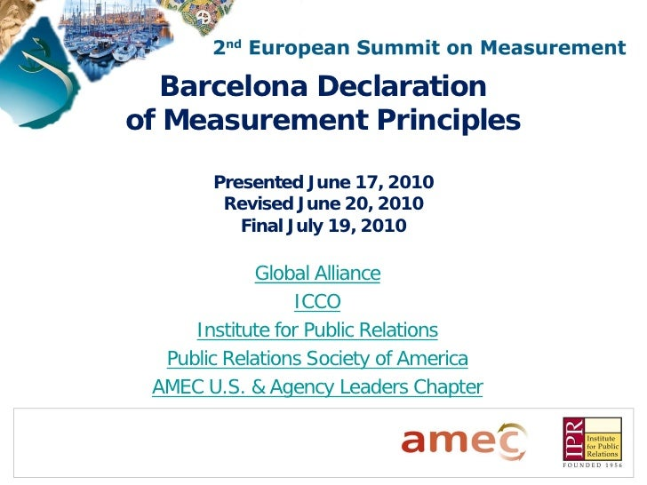 Barcelona Principles on PR Measurement FINAL