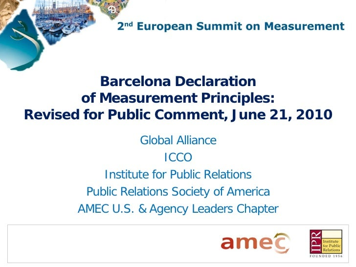 Barcelona summit declaration slides update. revised with delegate comments for consultation. 21.06.10