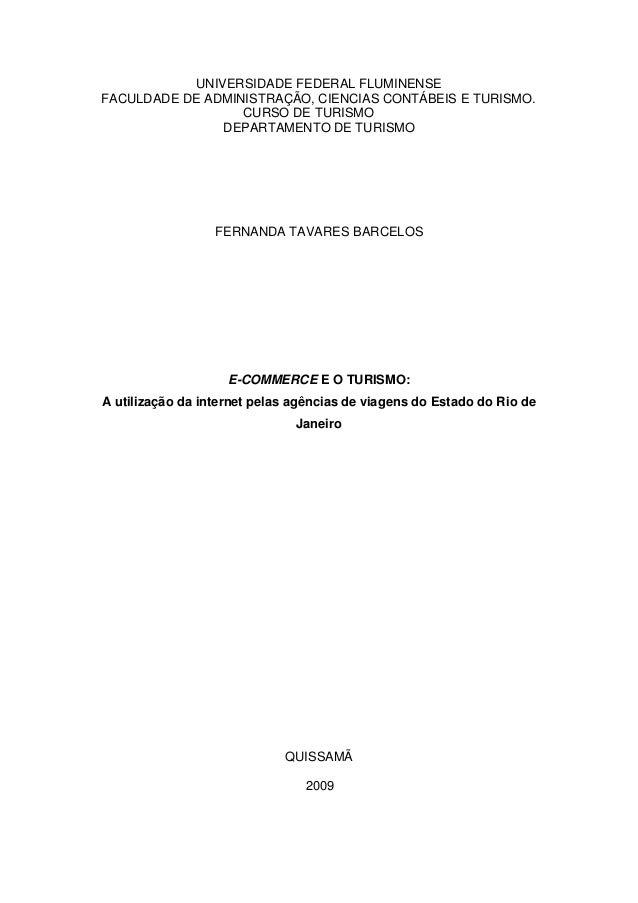 1UNIVERSIDADE FEDERAL FLUMINENSEFACULDADE DE ADMINISTRAÇÃO, CIENCIAS CONTÁBEIS E TURISMO.CURSO DE TURISMODEPARTAMENTO DE T...