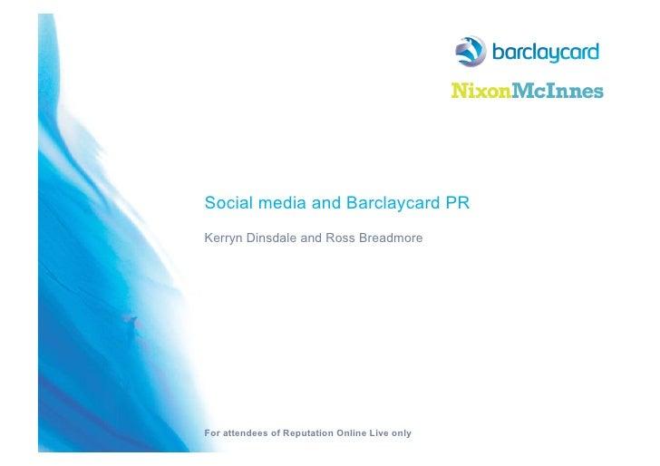Barclaycard case study on digital PR work