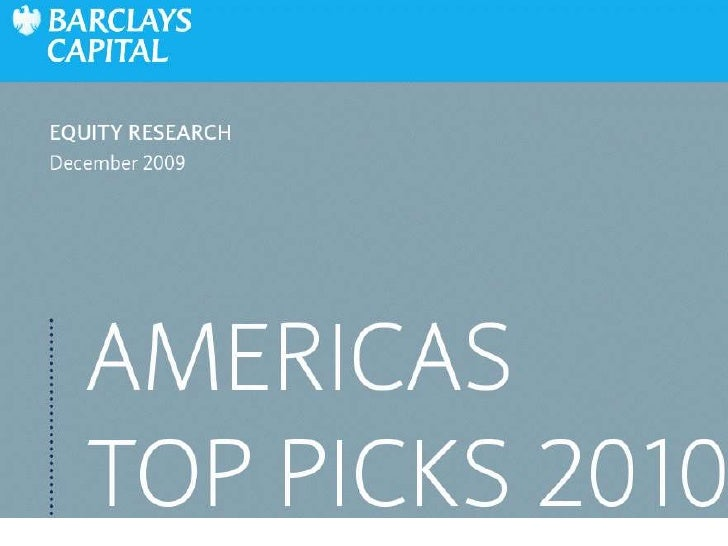 Internet & Media - Barclays Capital Equity Research - Top Picks 2010