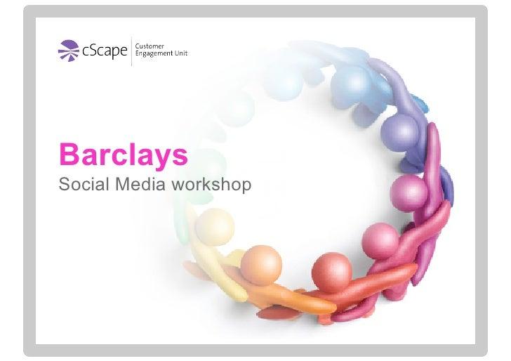 Social Media & Financial Services Workshop