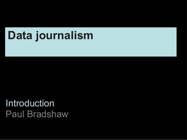 New information for new journalists pt2: data