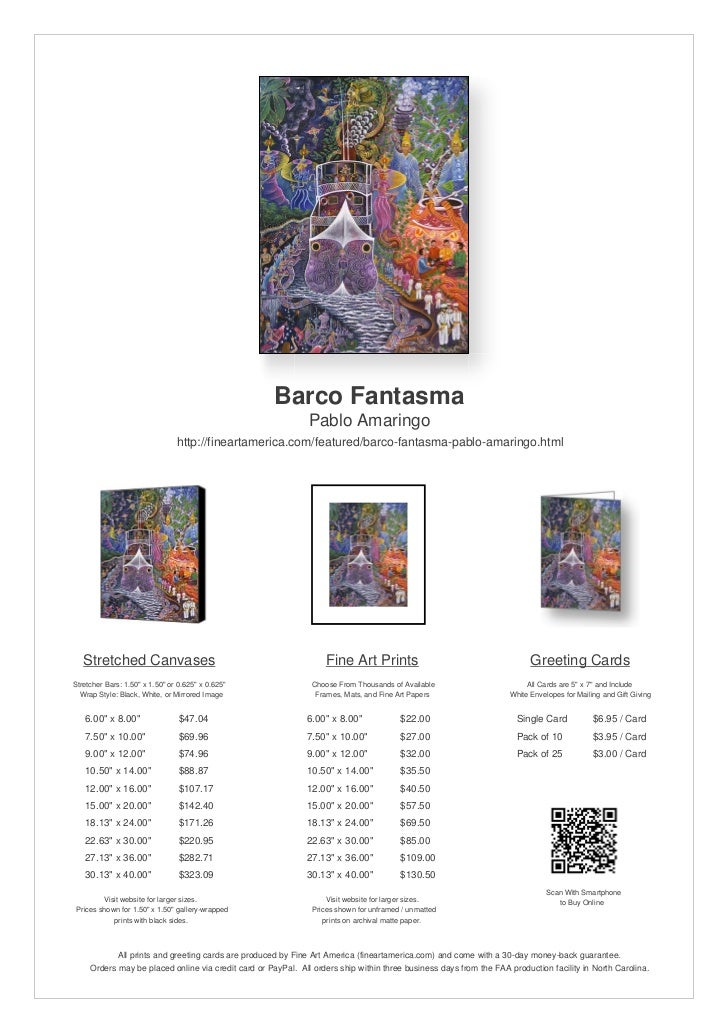 Barco Fantasma by Pablo Amaringo - Fine Art  Archival Prints