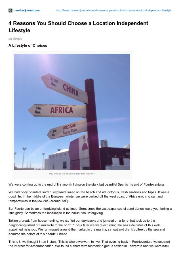 barefootjournal.com http://www.barefootjournal.com/4-reasons-you-should-choose-a-location-independent-lifestyle/ barefootg...