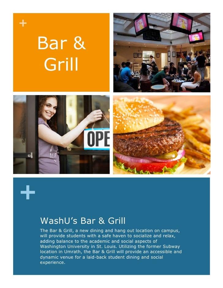 Bar & grill proposal - June 24, 2010