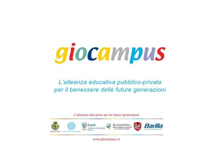 Giocampus. L'alleanza educativa pubblico-privata per il benessere delle future generazioni -  Paolo Buzzi