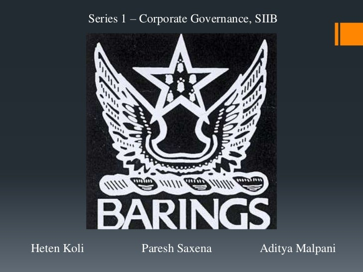 Barings bank   a failure in risk management