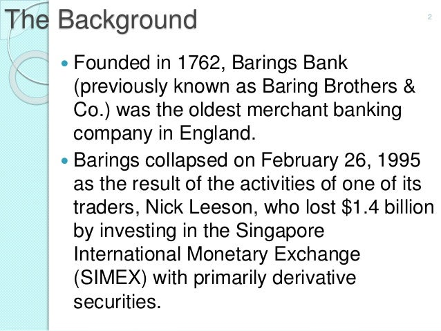 Barings bank case study summary