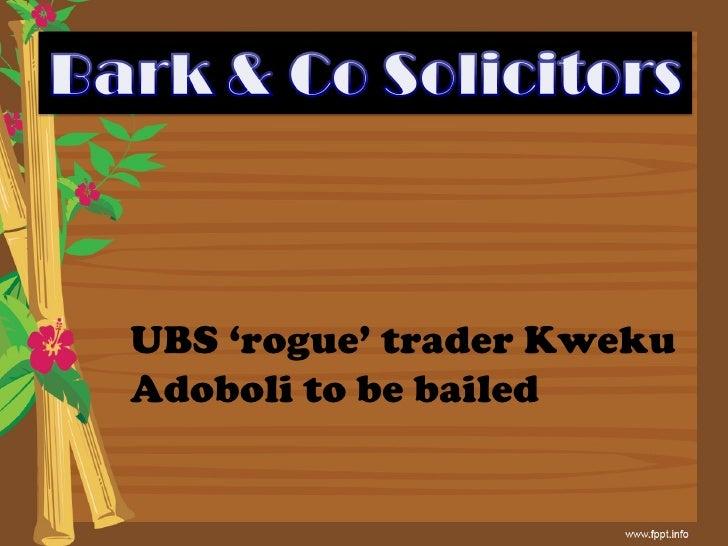 UBS 'rogue' trader Kweku Adoboli to be bailed