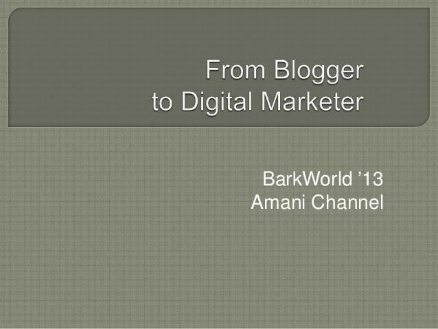 BarkWorld '13 Amani Channel