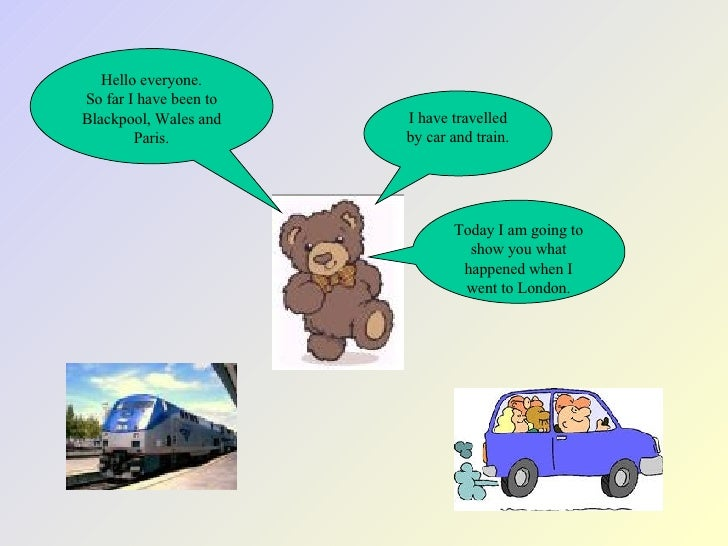 Hello everyone. So far I have been to Blackpool, Wales and Paris. I have travelled by car and train. Today I am going to s...