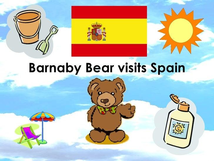 Barnaby Bear visits Spain