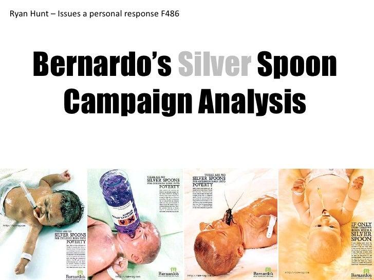 Barnardos Silver Spoon Poster Campaign Anlysis