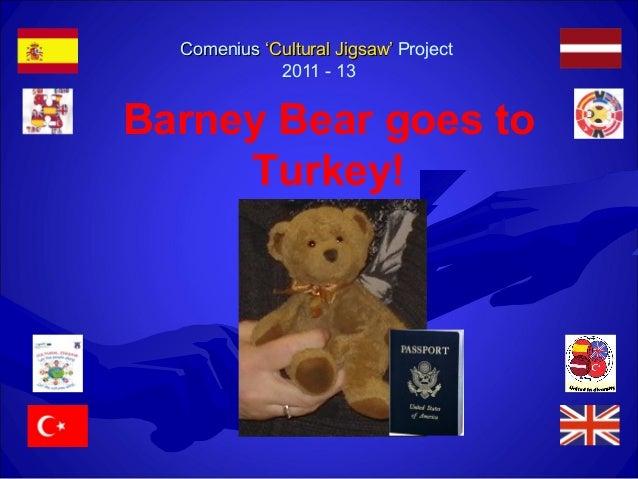 ComeniusComenius 'Cultural Jigsaw''Cultural Jigsaw' Project 2011 - 13 Barney Bear goes to Turkey!