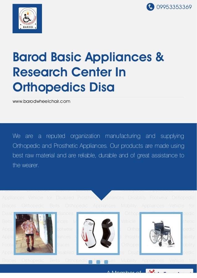 Barod basic-appliances-research-center-in-orthopedics-disa