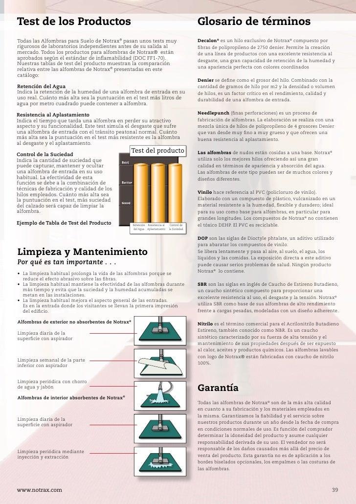 Notrax alfombras para el control suciedad - Catalogo alfombras ...