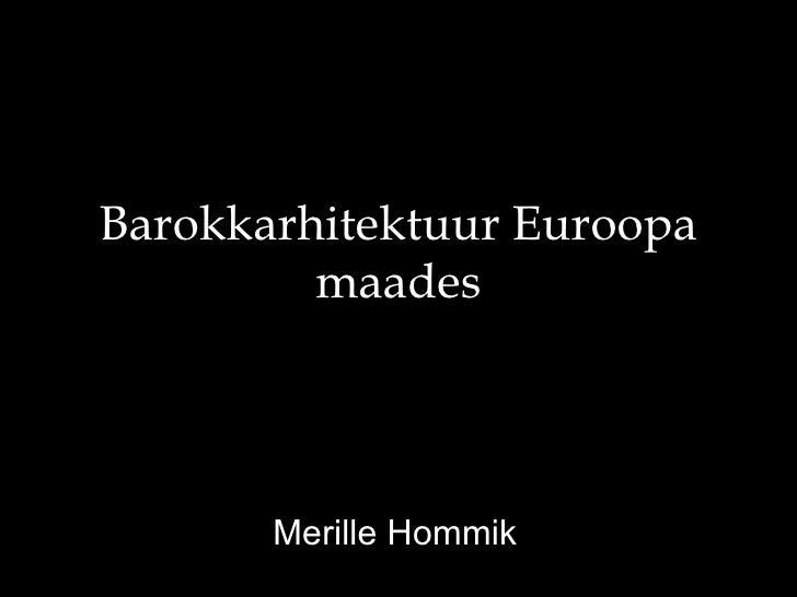 Barokkarhitektuur euroopa maades