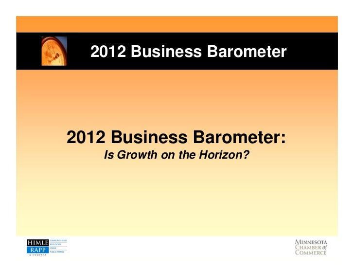 Minnesota Business Barometer Results