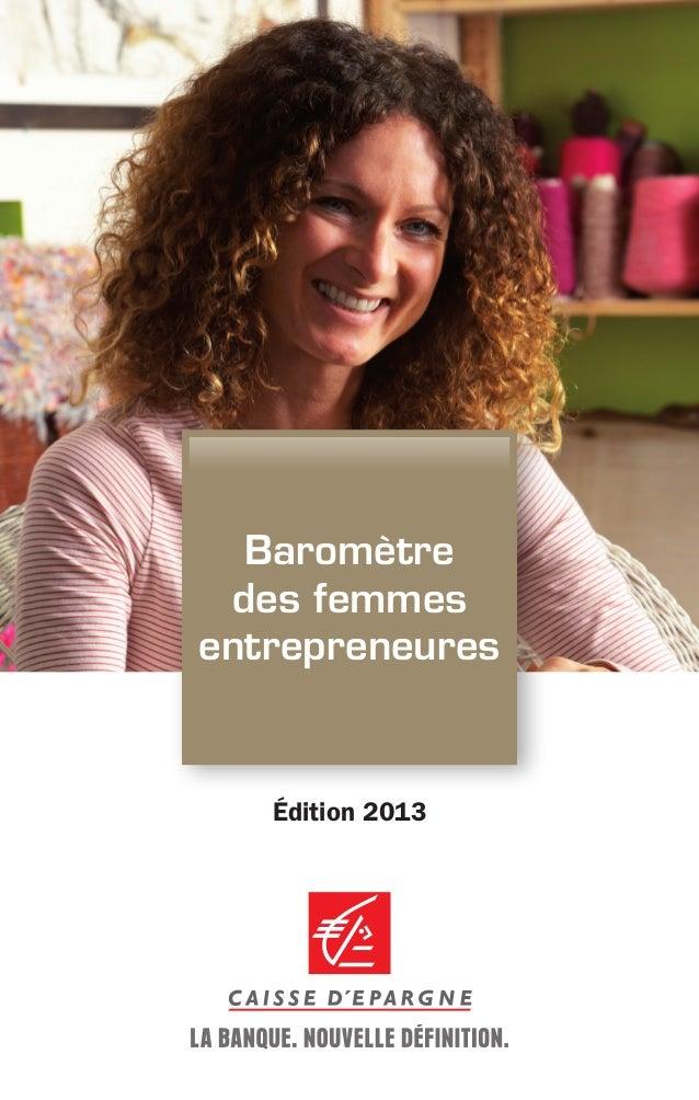 Baromètre des femmes entrepreneures  Édition 2013