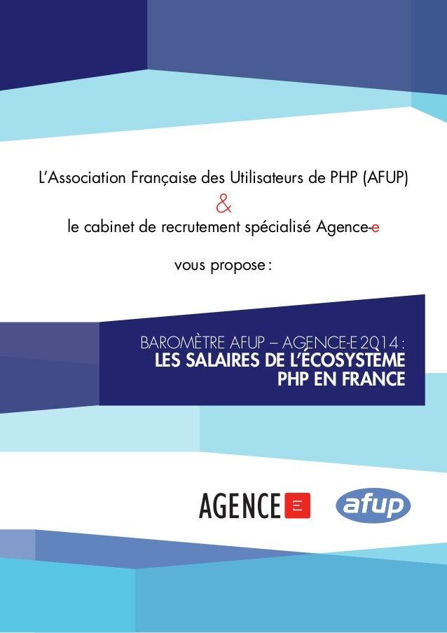 L'Association Française des Utilisateurs de PHP (AFUP)  &  le cabinet de recrutement spécialisé Agence-e vous propose:  b...