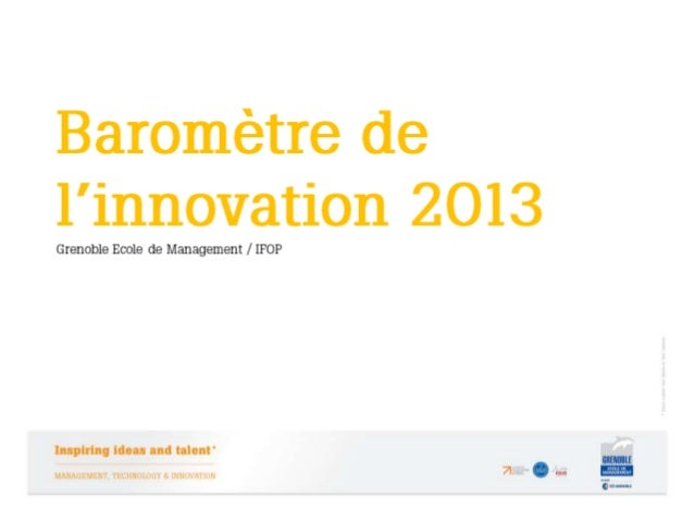 Baromètre de l'innovation 2013