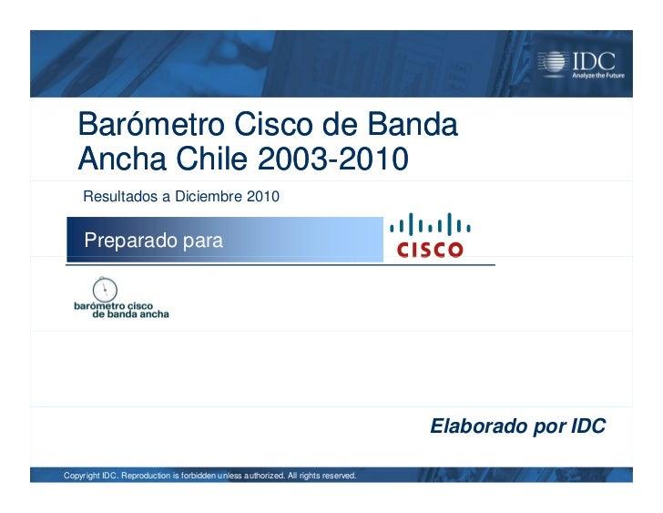 Barometro Chile Banda Ancha Dic 2010