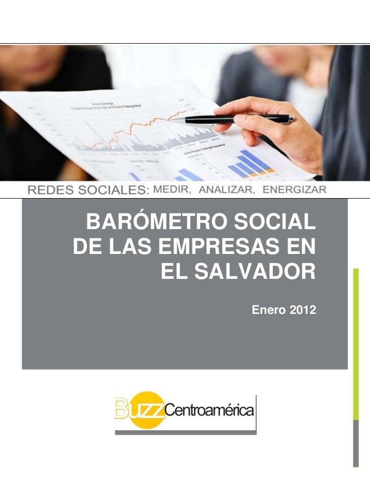 Barometro social de empresas en el salvador