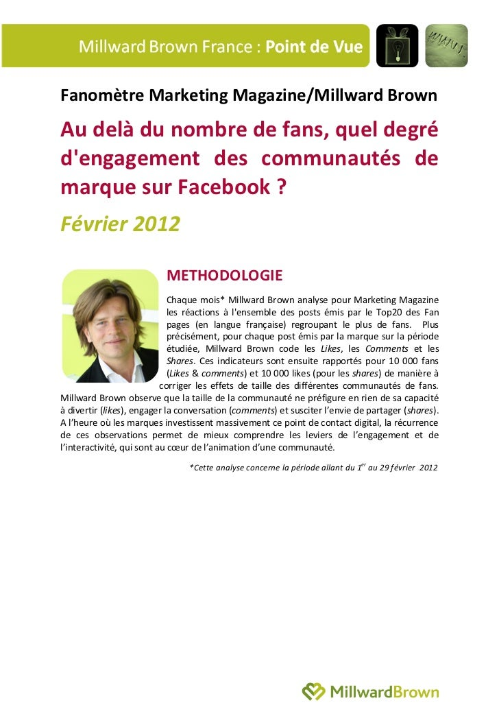 Fanomètre Marketing Magazine/Millward Brown - Février 2012