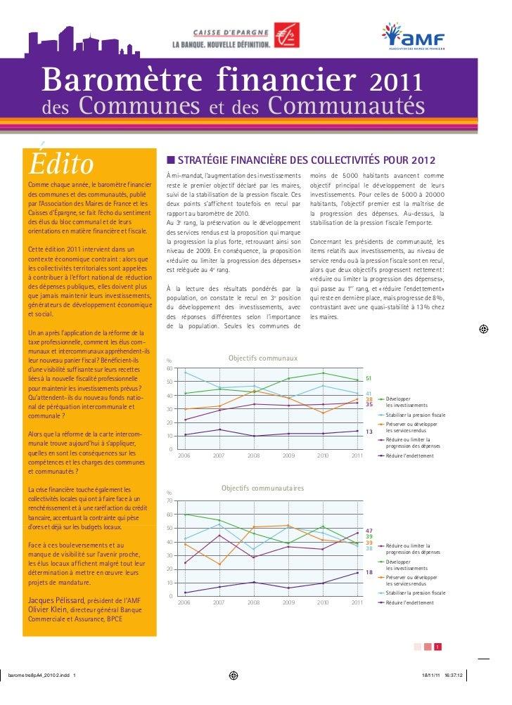 Baromètre financier                                                                       2011     des           Communes ...