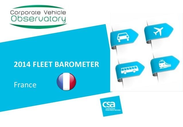 Titre du projet 1 2014  FLEET  BAROMETER ! ! ! France