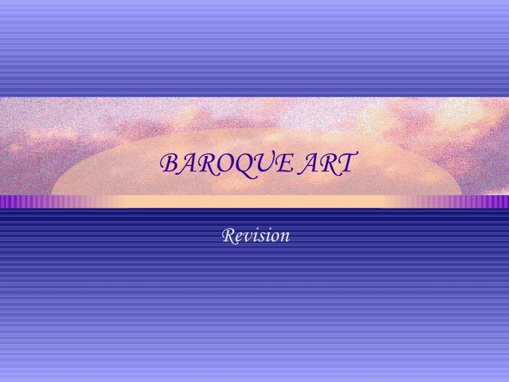 BAROQUE ART Revision