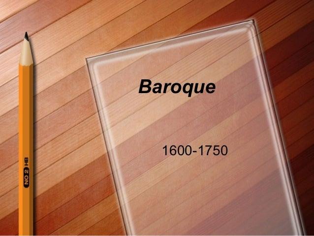 Baroque 1600-1750