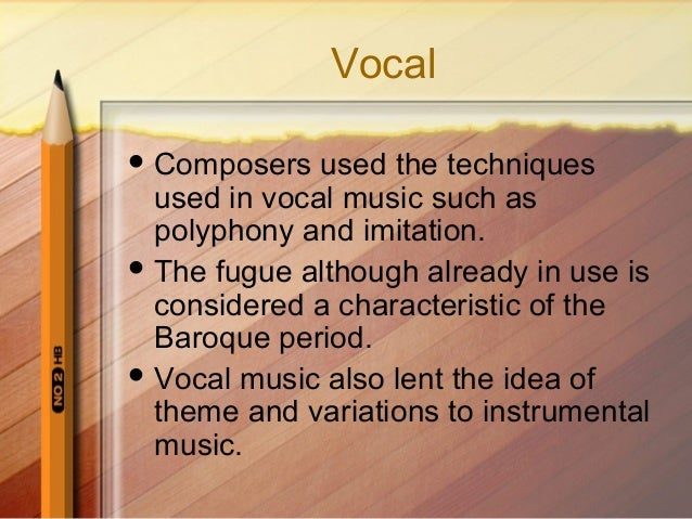 Baroque early opera for Characteristics of baroque period