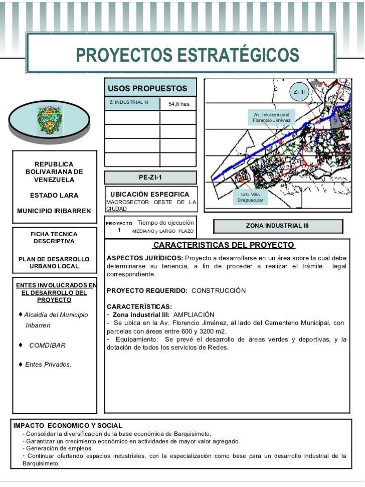 PROYECTOS ESTRATÉGICOS REPUBLICA  BOLIVARIANA DE  VENEZUELA ESTADO LARA MUNICIPIO IRIBARREN IMPACTO  ECONOMICO Y SOCIAL FI...