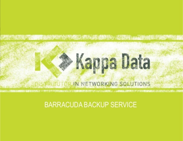 Barracuda backup service