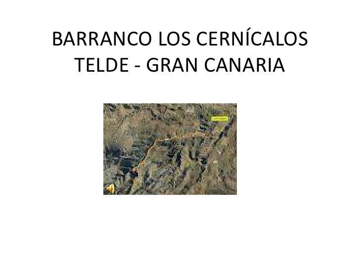 Barranco los cernícalos 2012
