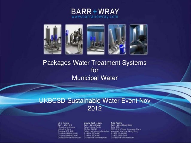 Packages Water Treatment Systems                                      for                                Municipal Water  ...