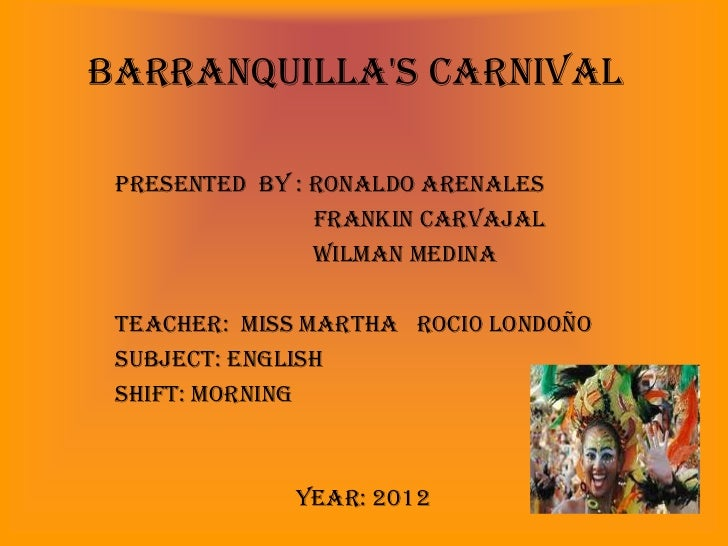 Barranquilla's Carnival 1