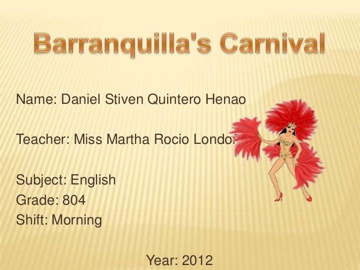 Barranquilla's carnival two