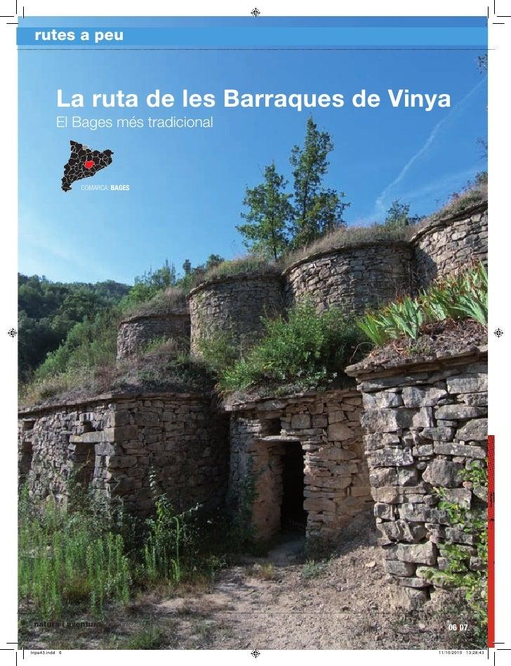rutes a peu         La ruta de les Barraques de Vinya      El Bages més tradicional                COMARCA: BAGES     natu...