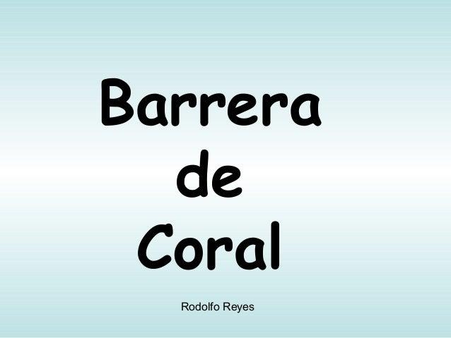 Barrera de Coral Rodolfo Reyes